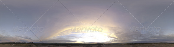 3DOcean Skydome HDRI IV Sunset Clouds 3822819