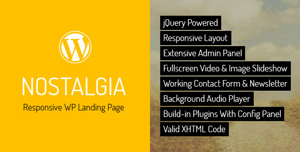 Nostalgia - Responsive WordPress Landing Page - Creative WordPress