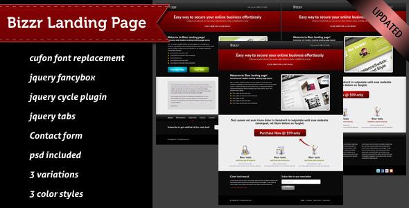ThemeForest Bizzr Landing Page 233025