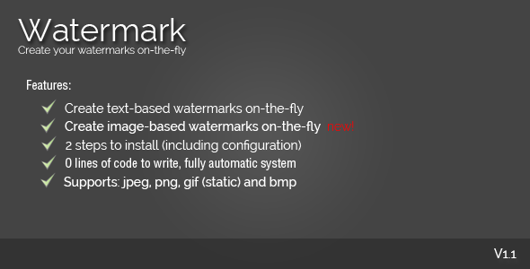 On-The-Fly Watermark