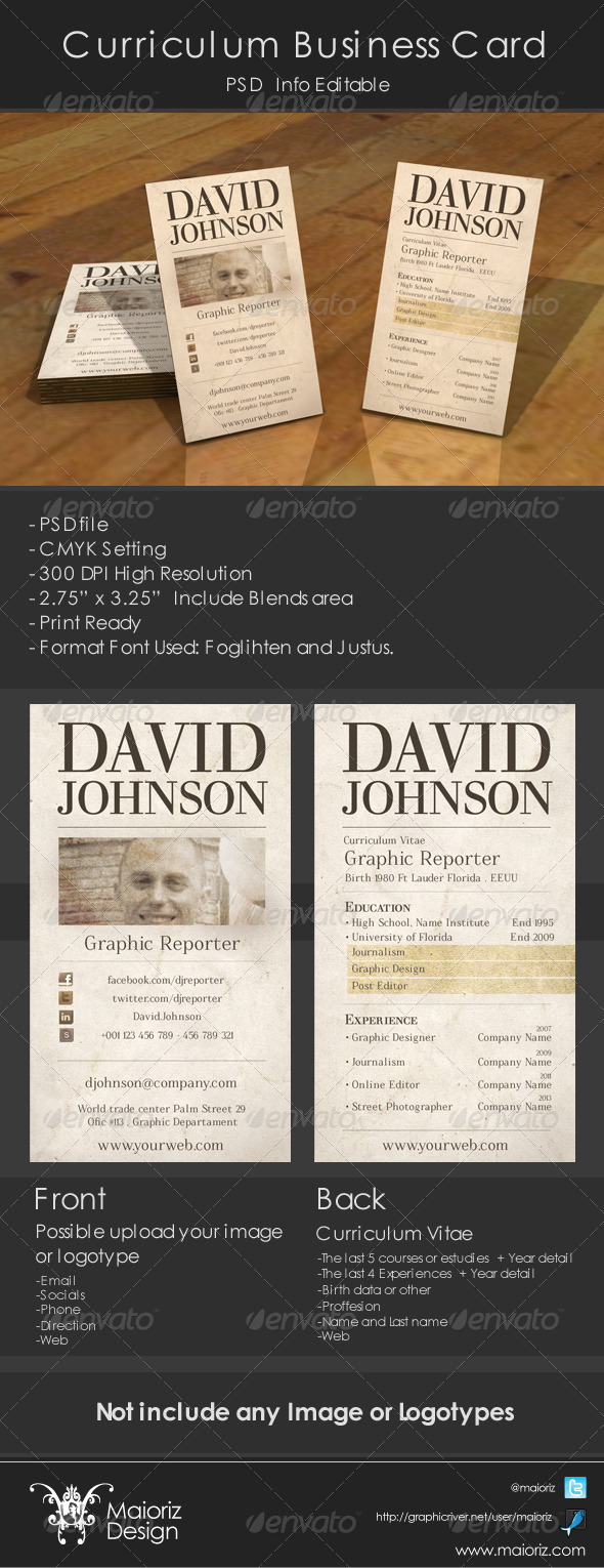 GraphicRiver Curriculum Business Card 3823790