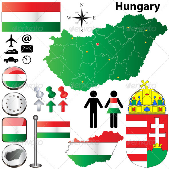 GraphicRiver Hungary Map 3823951