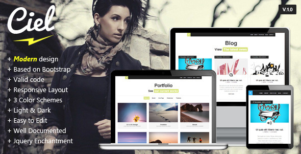 ThemeForest Ciel Responsive One Page Theme 3824369