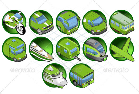 GraphicRiver Isometric Set of a Travel Icons 3824378