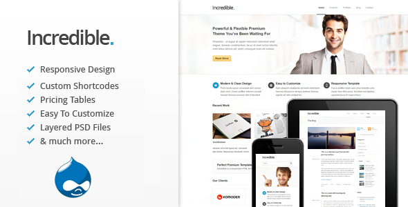 Incredible - Responsive Drupal Theme