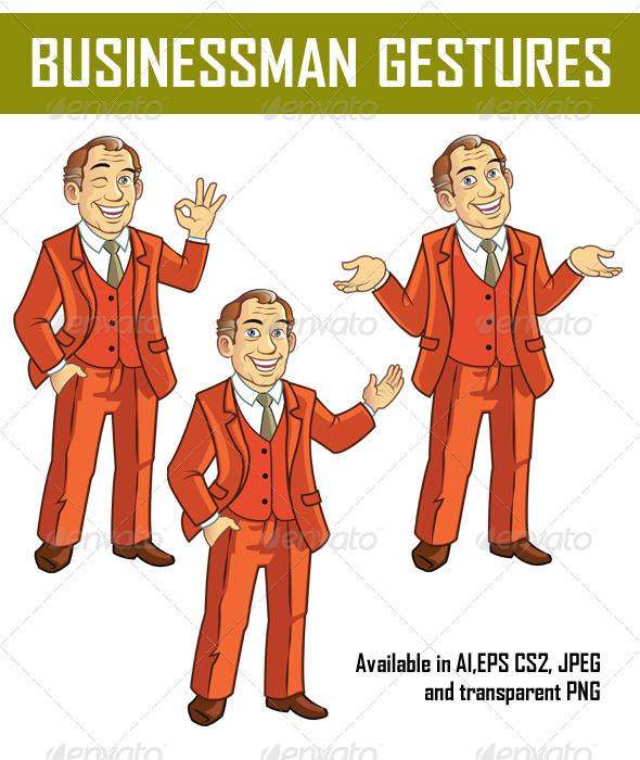 GraphicRiver Businessman Gestures 3824776