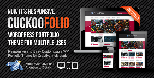 CuckooFolio - WP Portfolio Theme for Multiple Uses - Creative WordPress