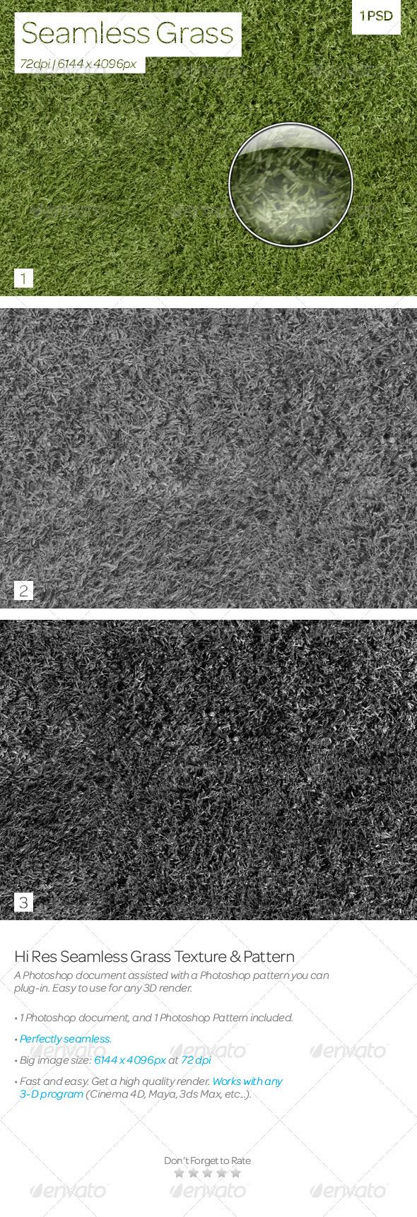 3DOcean Seamless Grass Texture & Pattern 3825688