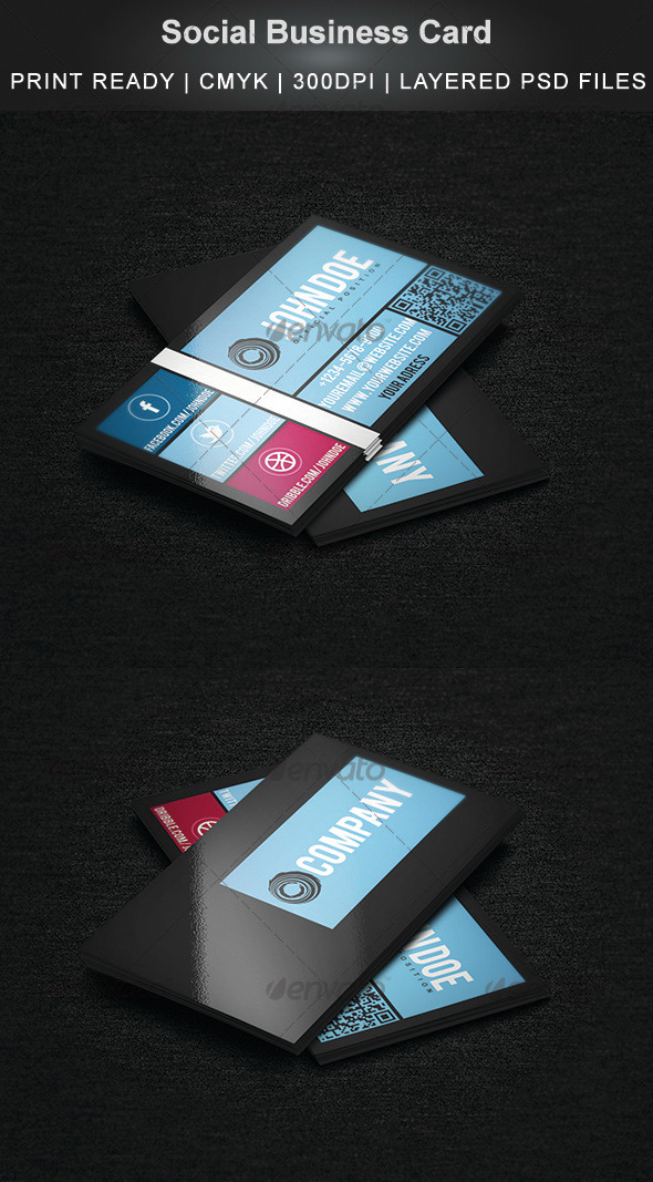 GraphicRiver Social Business Card 3825918