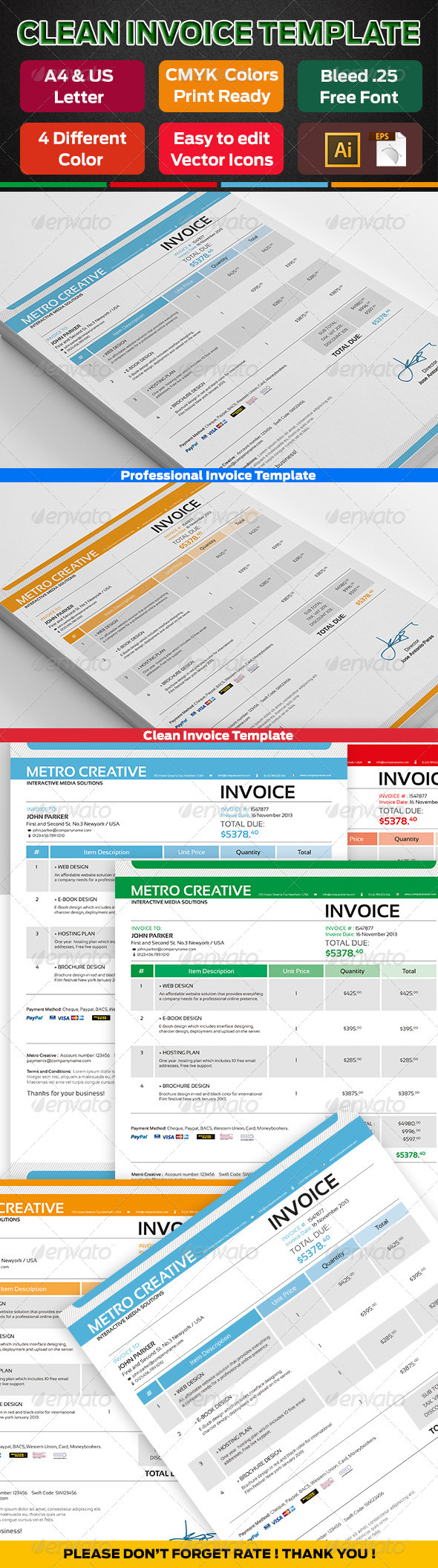 GraphicRiver Professional Invoice 01 3755854