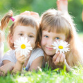 Happy children with flowers - PhotoDune Item for Sale