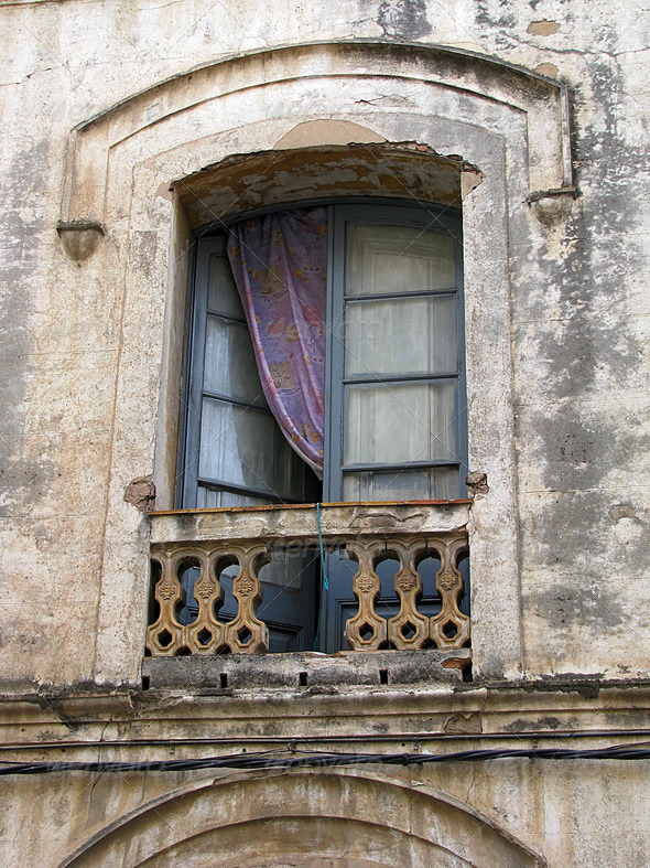PhotoDune Balcony Medieval in Barcelona 3826694