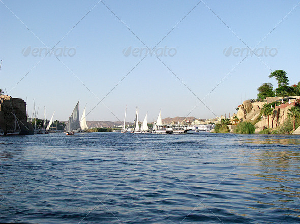 PhotoDune Egypt The Nile and felucca 3826700