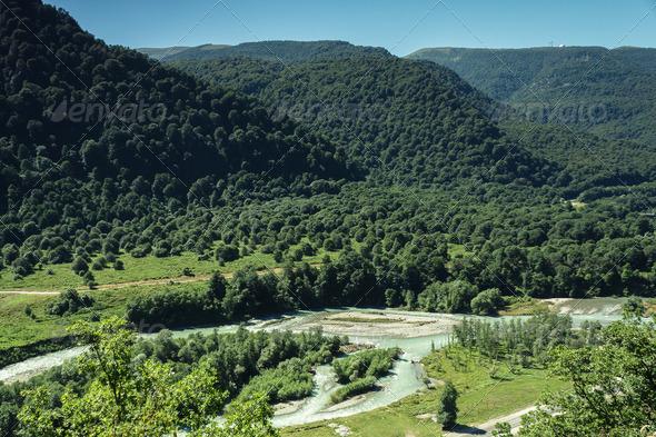 PhotoDune Summer Mountains Landscape Bird s Eye View 3826802