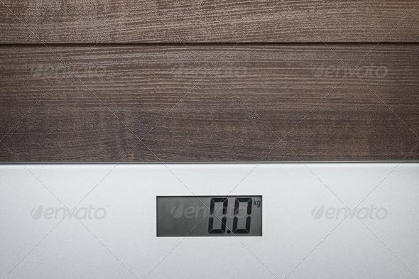 PhotoDune Scales On The Wooden Floor 3826803