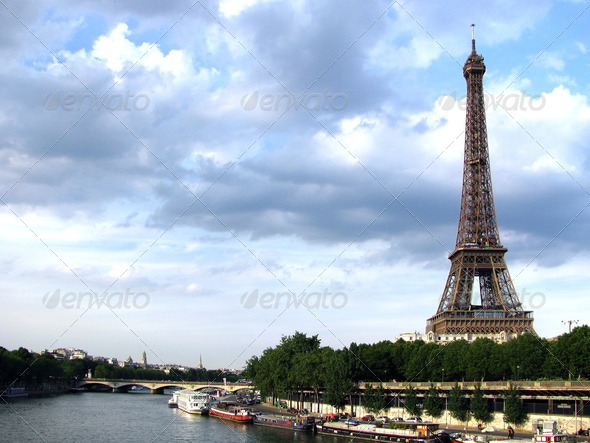 PhotoDune Eiffel Tower river 3826729