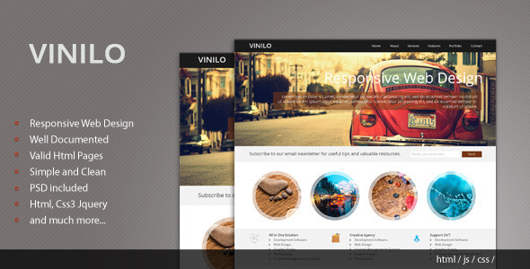 ThemeForest Vinilo Responsive HTML Template 3826747