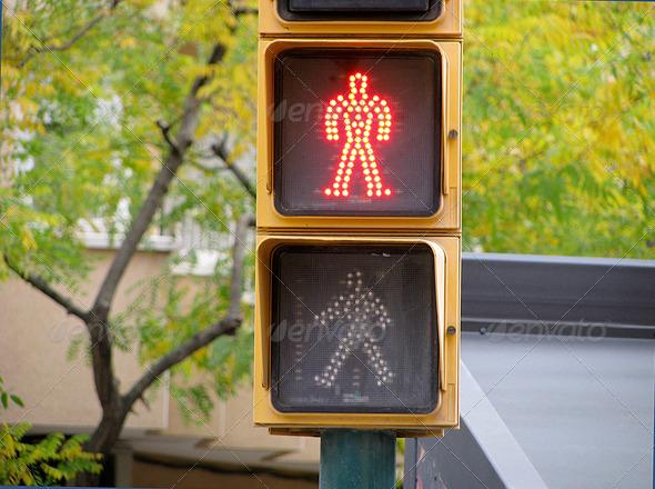 PhotoDune Pedestrian traffic lights red light 3826769