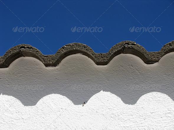 PhotoDune roof on a blue sky 3826826