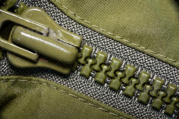 PhotoDune macro of green plastic zipper 3826812