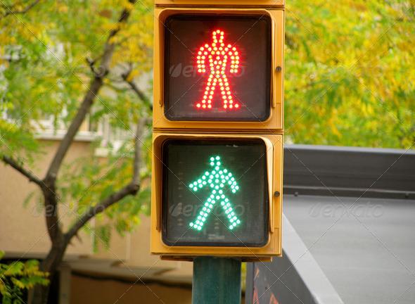 PhotoDune Pedestrian traffic lights green and red light 3826860