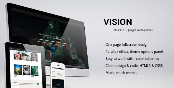 ThemeForest VISION clean creative parallax one page theme 3826852