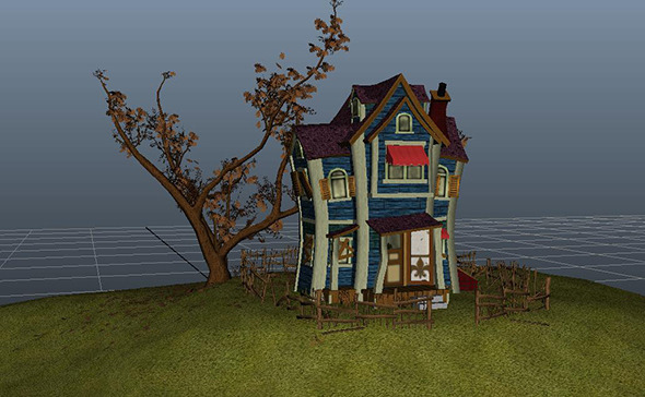 3DOcean Game Rez Caricature Ghost House 3826864