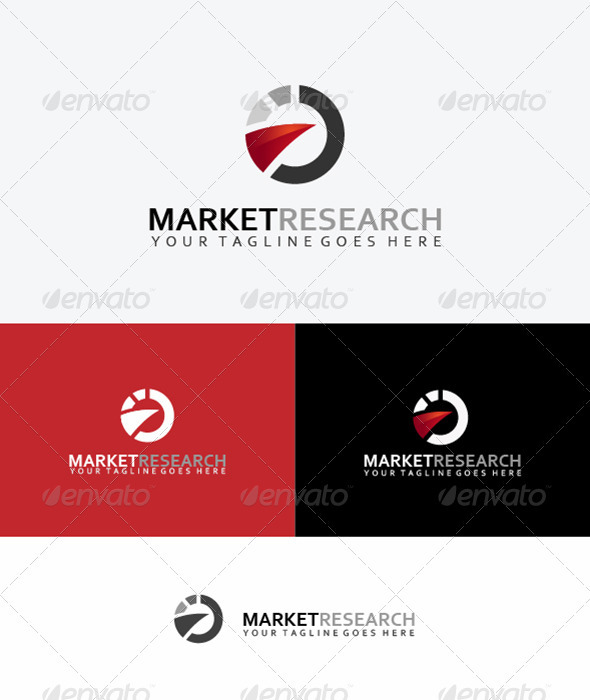Market Research Logo - Vector Abstract