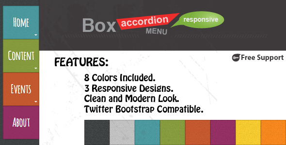 Box Accordion Menu Responsive