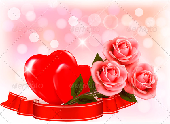 Два сердца и розы