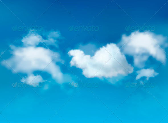 GraphicRiver Blue Sky with Clouds Background 3827937