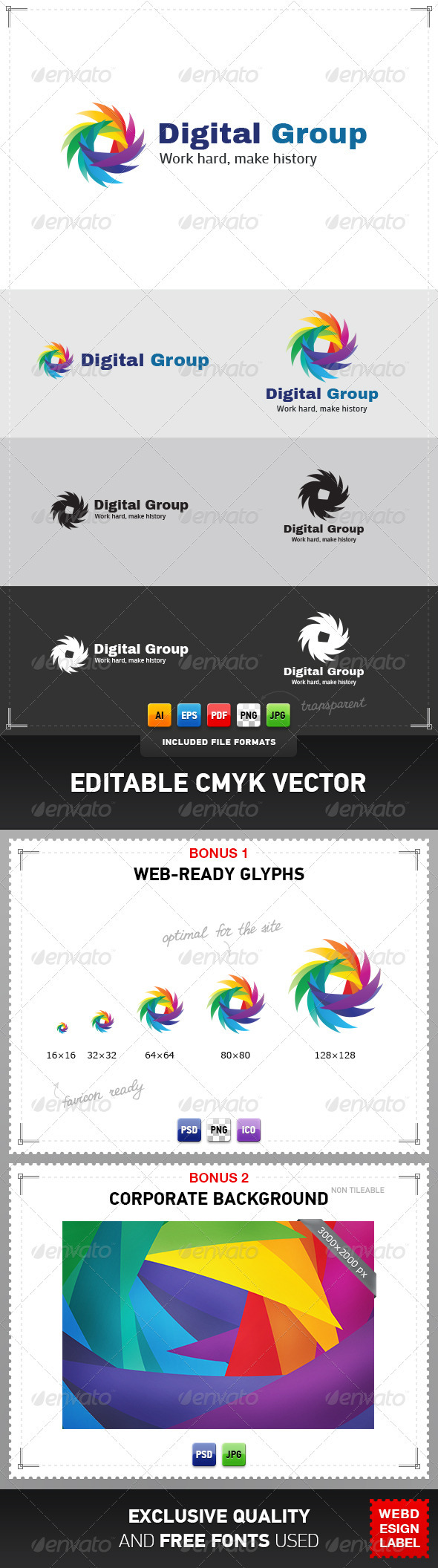 GraphicRiver Digital Group Logo 3828047