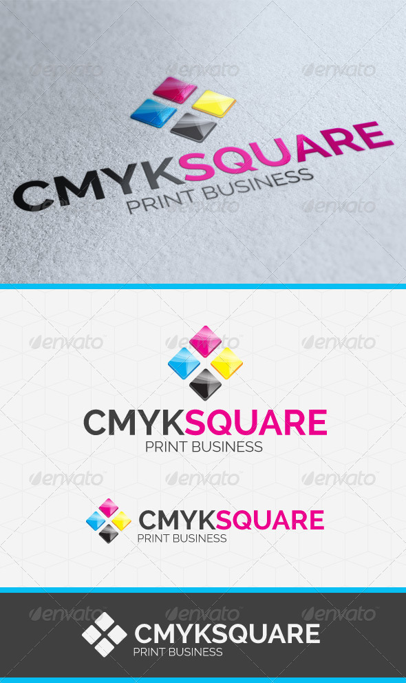 GraphicRiver CMYK Square Logo Template 3828148