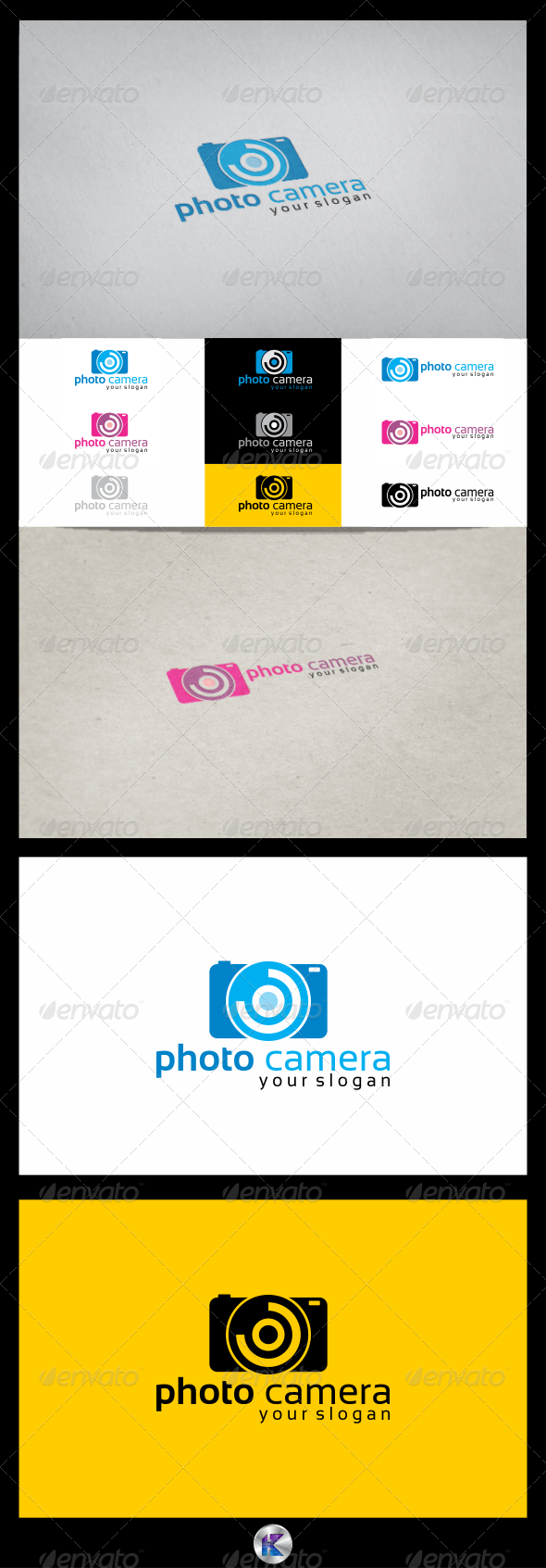 GraphicRiver Photo Camera Logo Template 3826064