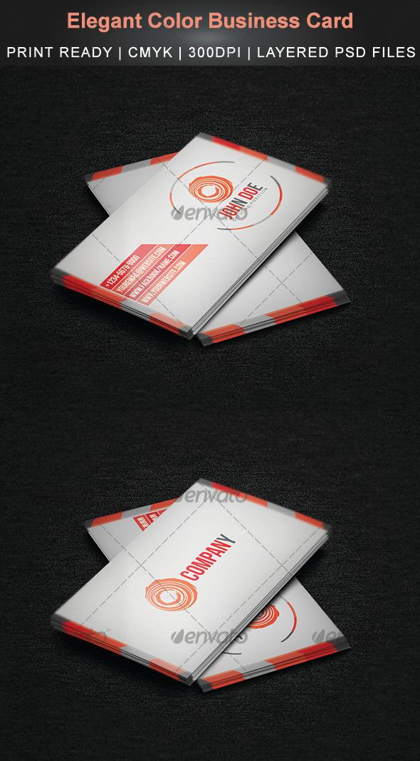GraphicRiver Elegant Color Business Card 3829204