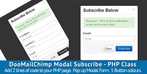 CodeCanyon DooMailChimp Modal Subscribe PHP Class 3826800