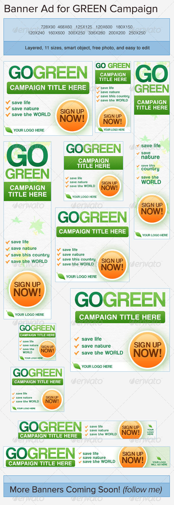 GraphicRiver Go Green Banner Ads 3750042