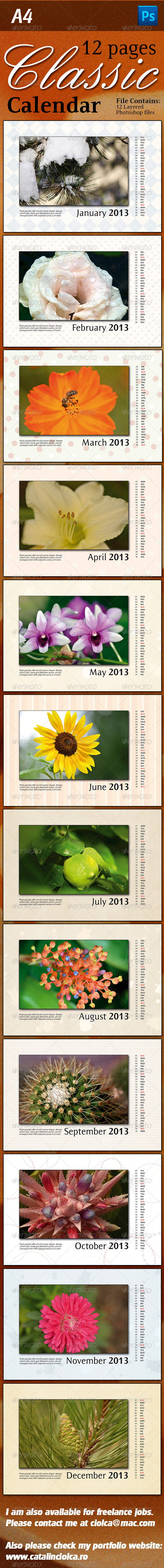 GraphicRiver 12 Pages Classic Calendar 3830758