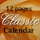 12 Pages Classic Calendar - GraphicRiver Item for Sale