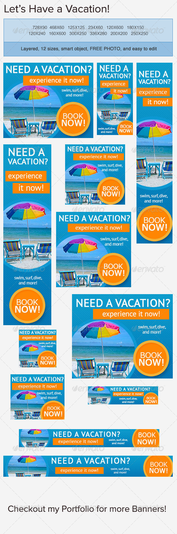 GraphicRiver Vacation Banner Ad 3764403