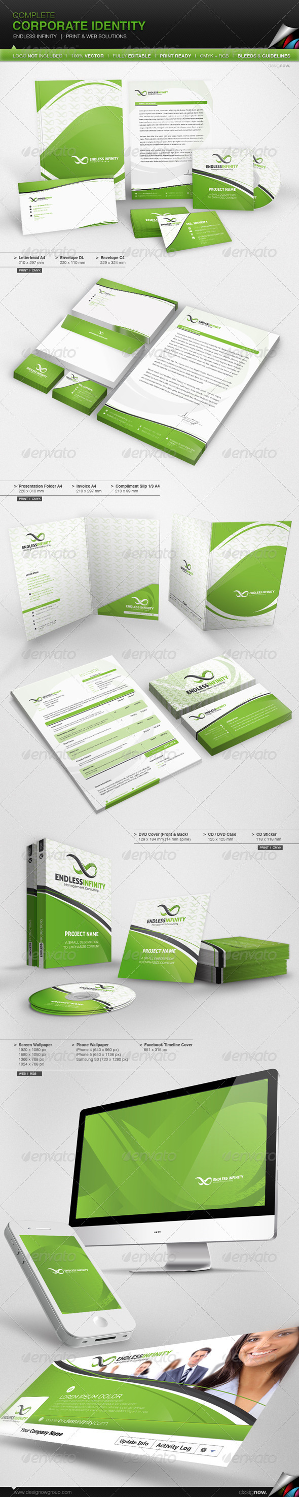 GraphicRiver Corporate Identity Endless Infinity 3742615