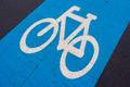 Blue bicycle lane - PhotoDune Item for Sale