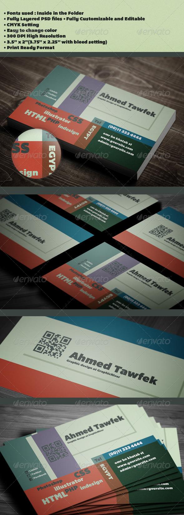 GraphicRiver 10 Graphic Designer Business Card 3831246