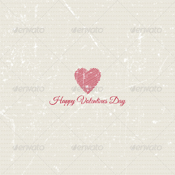 GraphicRiver Grunge Valentines Day Background 3831261