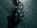 Cyclist in the dark - PhotoDune Item for Sale
