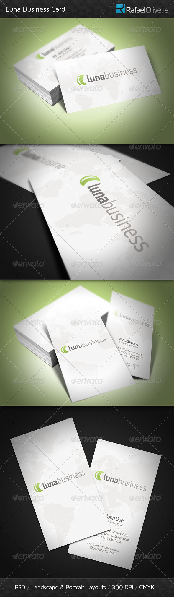 Luna Business Card - Corporate Business Cards