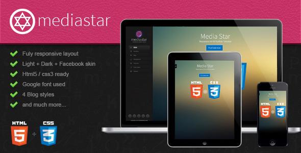 ThemeForest Mediastar- Responsive Html5 Portfolio Template 3805427