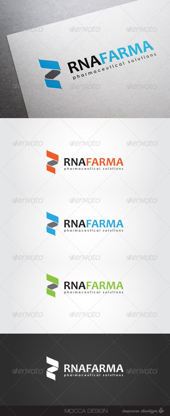 GraphicRiver RNAfarma Logo 3832030