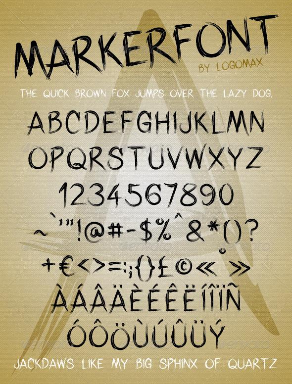 GraphicRiver Marker Font 3757273