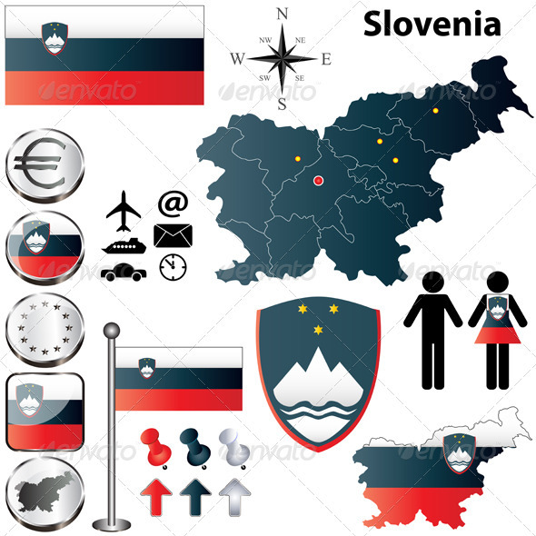GraphicRiver Slovenia Map 3832203